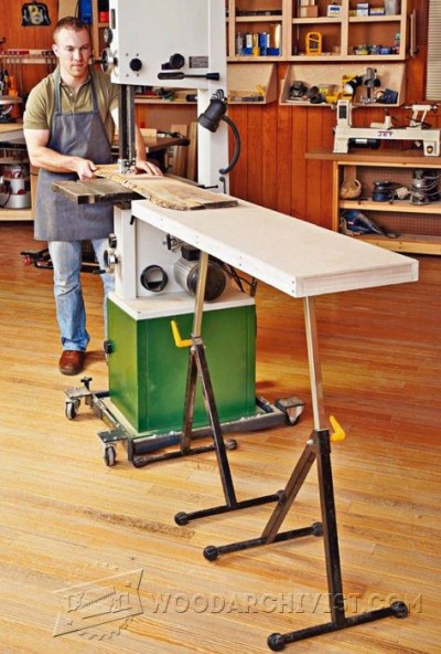 101-Outfeed Support - Table Saw Tips, Jigs and Fixtures