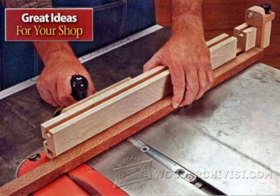 102-Miter Gauge Fence - Table Saw Tips, Jigs and Fixtures