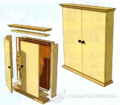 103-Dartboard Cabinet - Plans and Projects