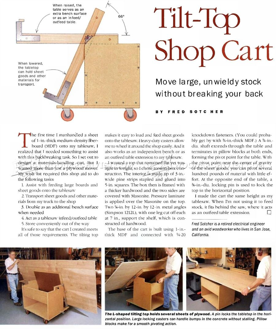 Tilt Top Plywood Cart Plans Woodarchivist