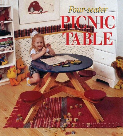 106-Round Picnic Table - Children's Plans and Projects