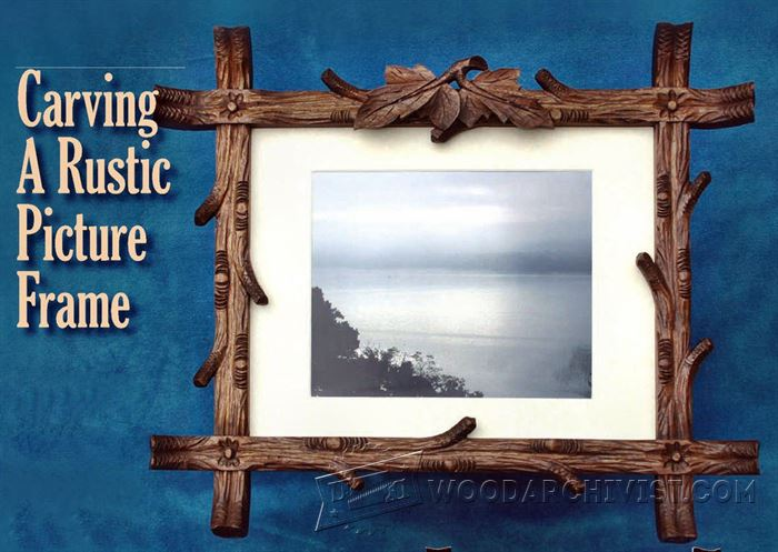 Carving Rustic Picture Frame Woodarchivist
