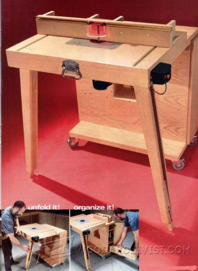 110-Mobile Router Table - Router Tips, Jigs and Fixtures