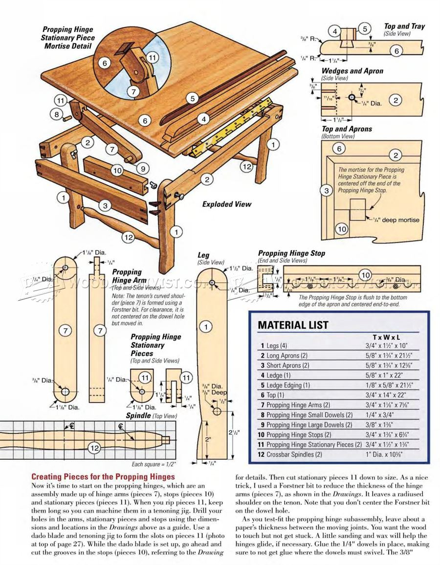 Laptop Desk Plans
