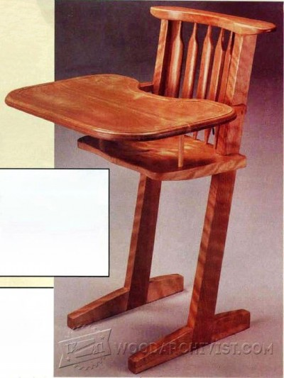 113-Handcrafted Highchair - Children's Furniture Plans and Projects