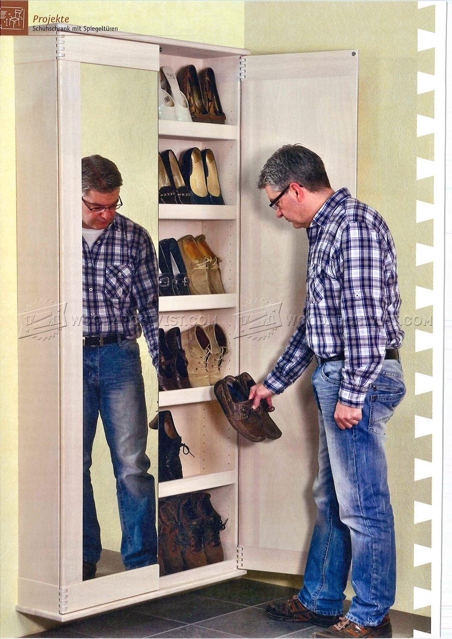 Shoes Wall Cabinet Plans