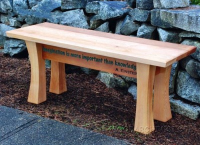 117-Cedar Garden Bench - Outdoor Furniture Plans & Projects