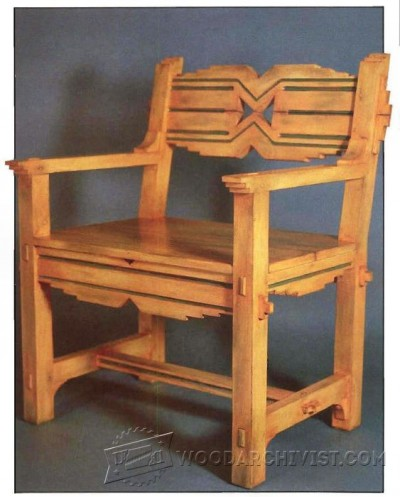 119-Santa Fe Chair - Furniture Plans and Projects