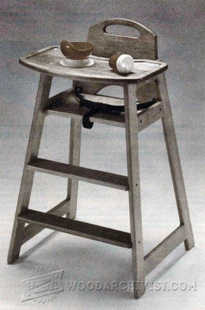 121-Highchair - Children's Furniture Plans and Projects