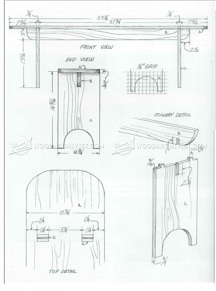 Four-Board Bench Plans