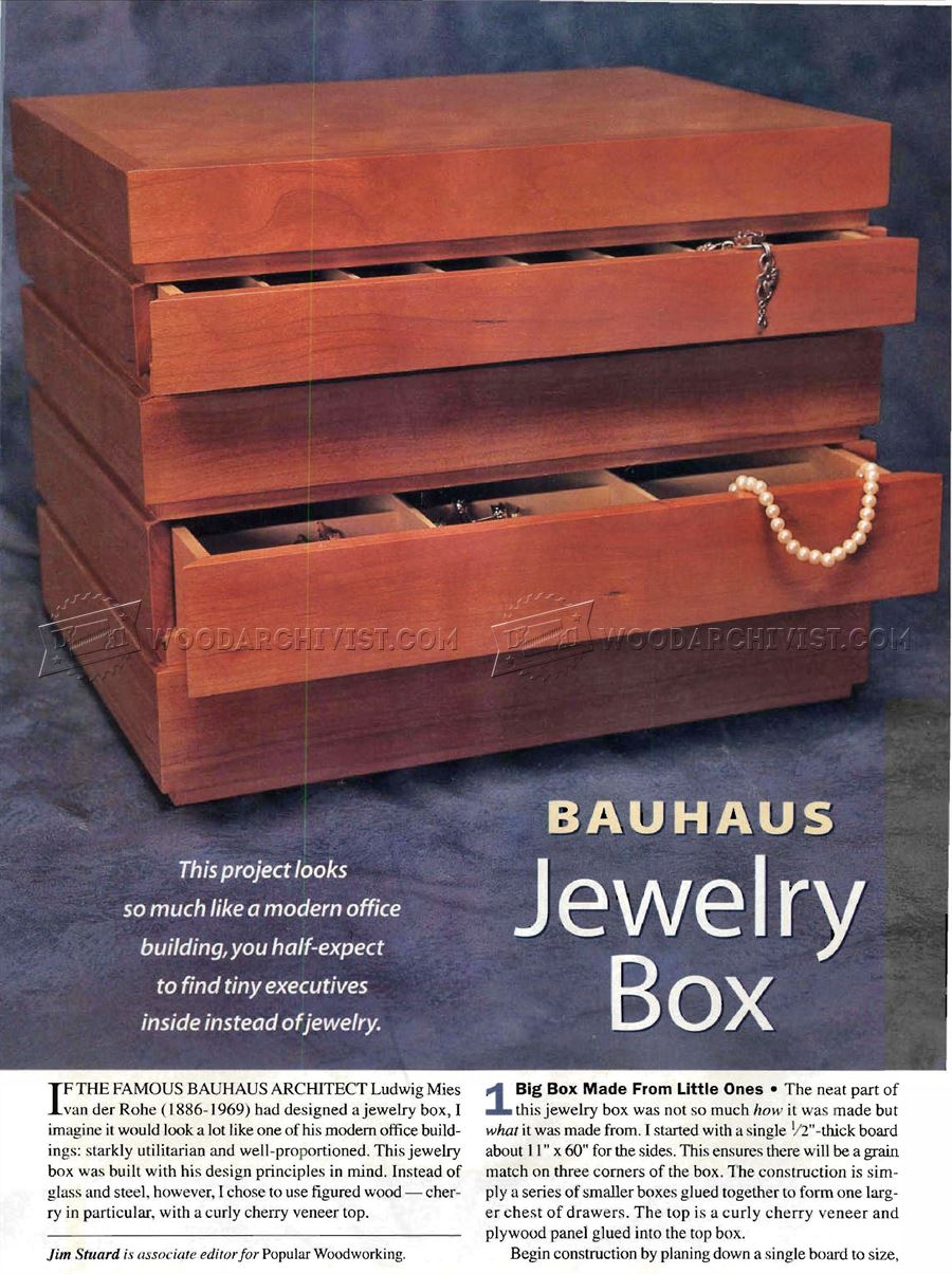 Bauhaus Jewelry Box Plans