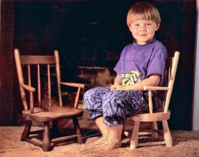 128-Windsor Chair - Children's Furniture Plans and Projects