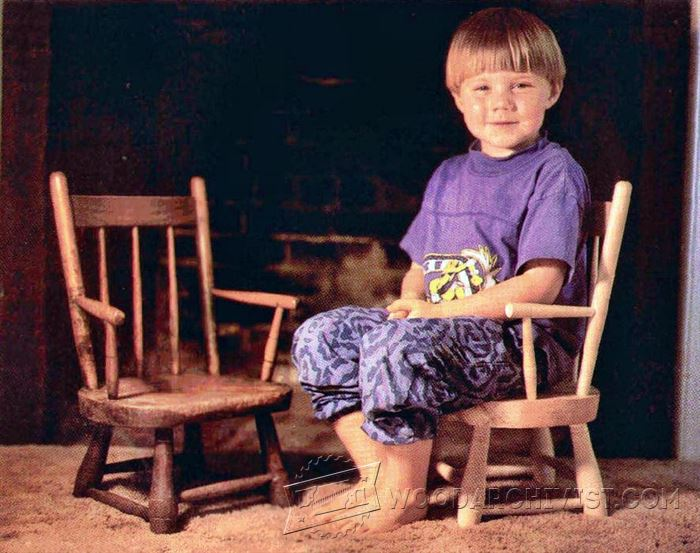 Children S Windsor Chair Plans Woodarchivist