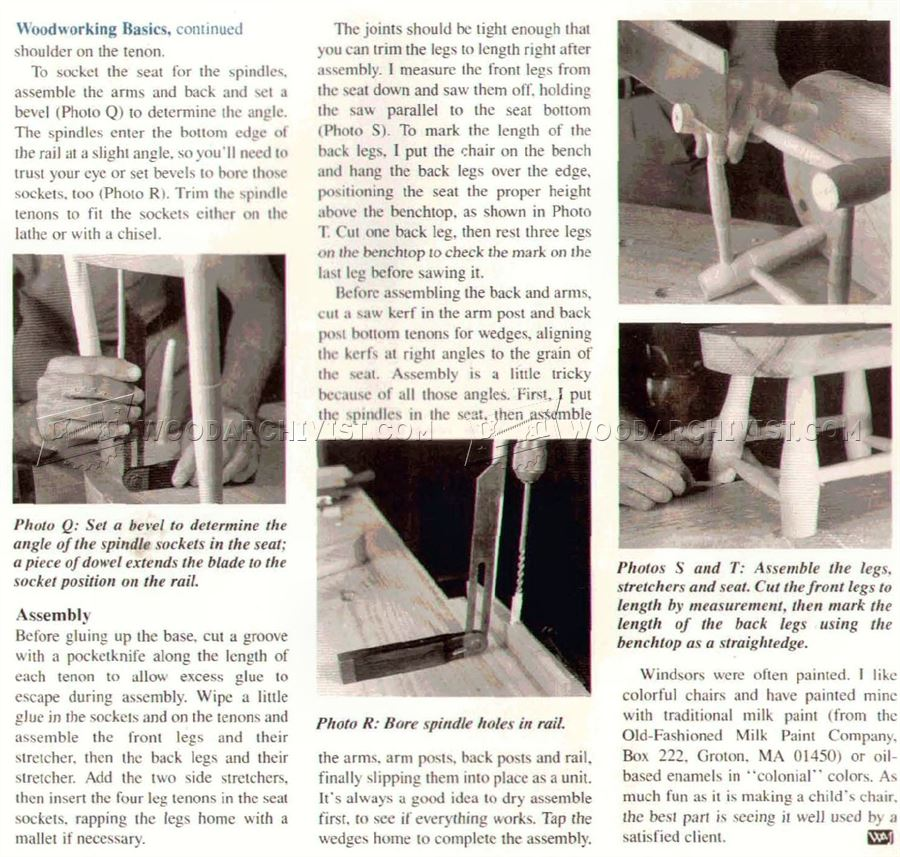 Children's Windsor Chair Plans