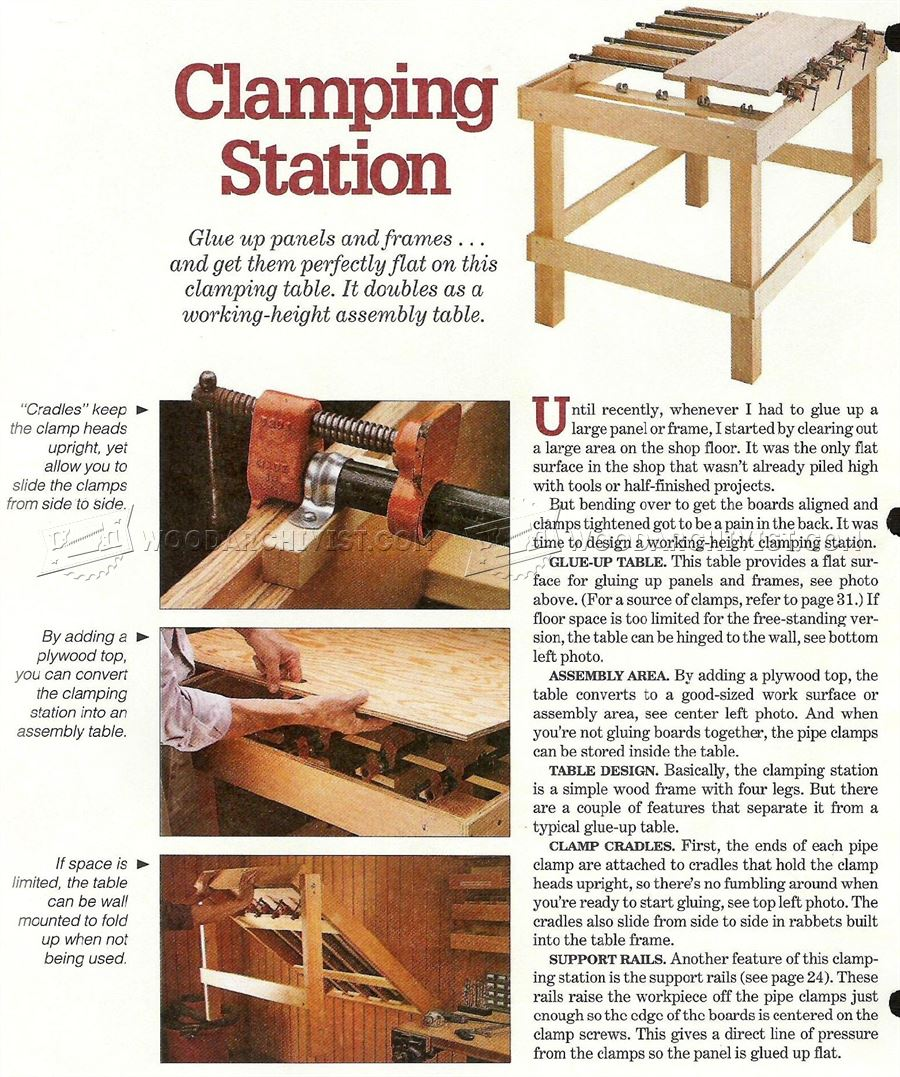 Panel Glue Up Clamping Table