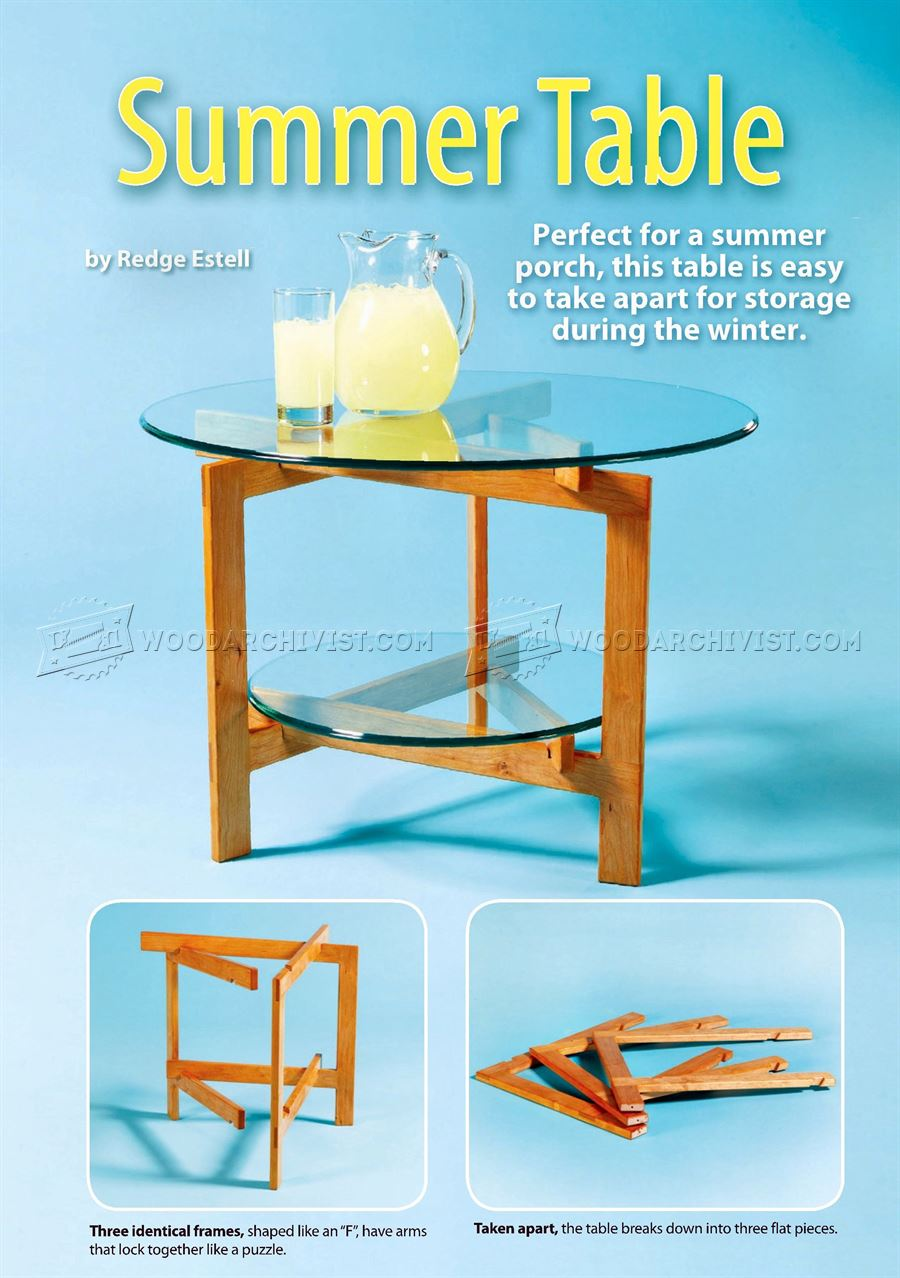 Glass Top Table Plans