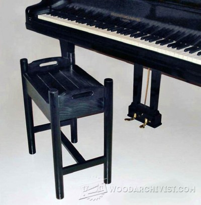 135-Piano Stool - Furniture Plans and Projects