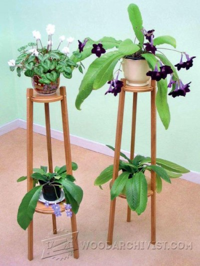 139-Oak Plant Stand - Furniture Plans and Projects