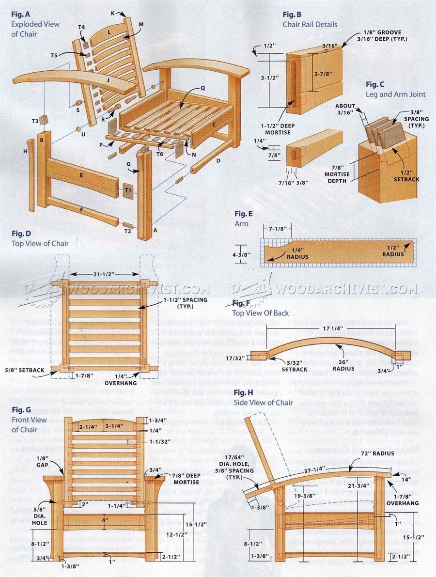 Morris Chair Plans • WoodArchivist