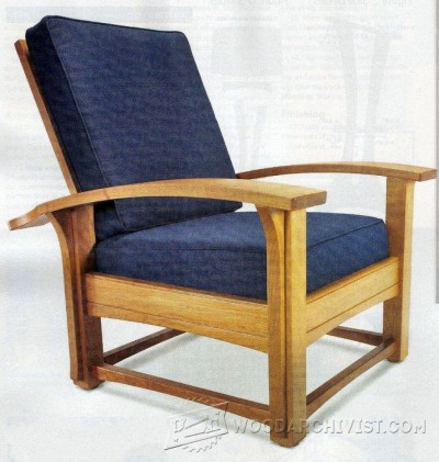 140-Morris Chair and Ottoman - Furniture Plans and Projects