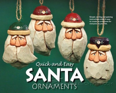 145-Carving a Santa Ornaments -Carving Projects and Techniques