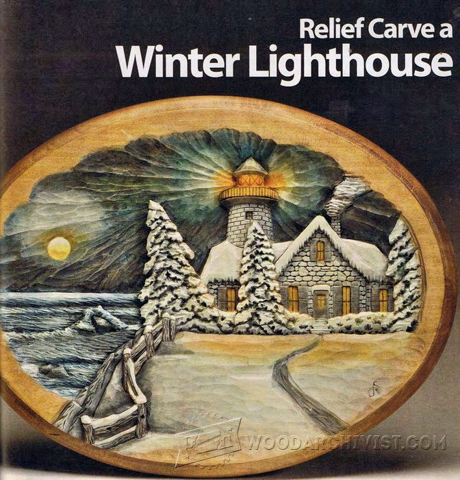 Relief Carving Patterns - Winter Lighthouse • WoodArchivist