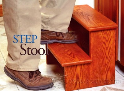 153-Step Stool - Furniture Plans and Projects