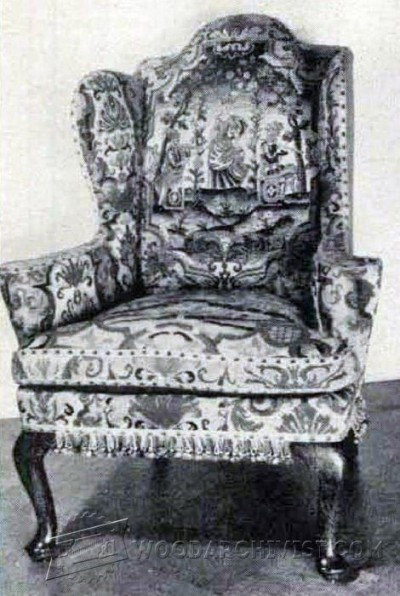 157-Georgian Wing Chair - Furniture Plans and Projects