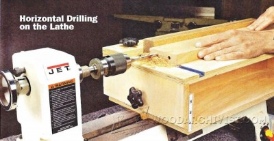 159-Horizontal Drilling on the Lathe - Lathe Tips, Jigs and Fixtures