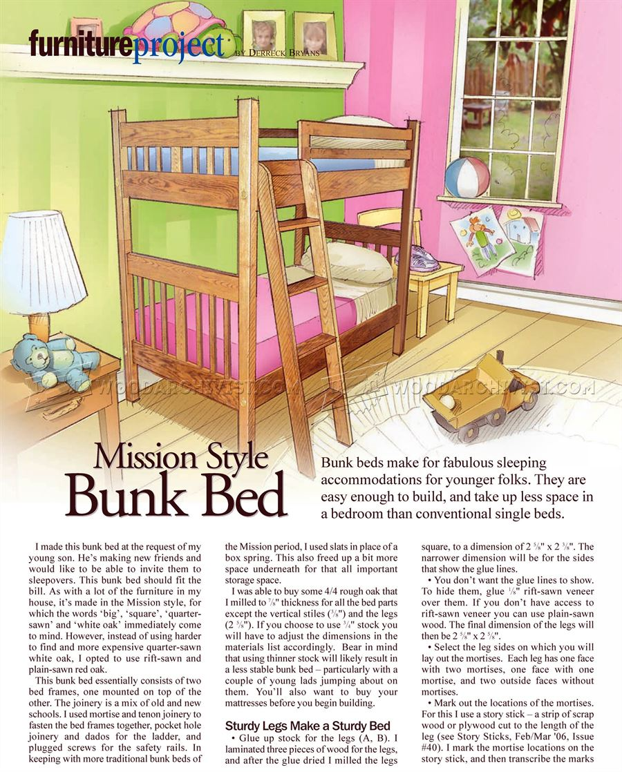 Mission Style Bunk Bed Plans