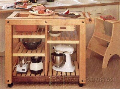 162-Kitchen Work Table - Furniture Plans and Projects