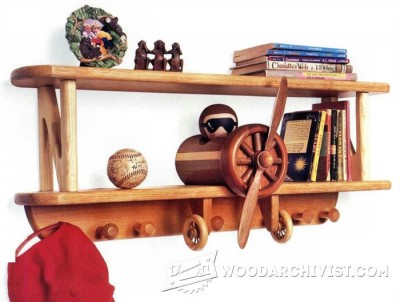 163-Biplane Shelf and Coat Rack - Children's Plans and Projects