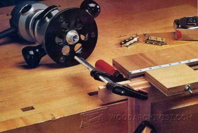 167-Hinge Mortising Jig - Furniture Components Projects and Techniques