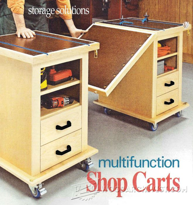 Multifunction Workshop Carts Plans Woodarchivist