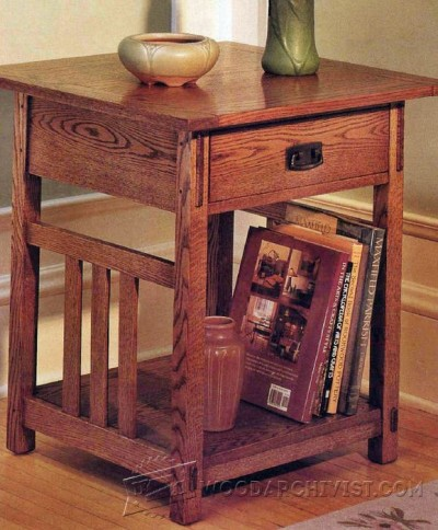 171-Arts & Crafts End Table - Furniture Plans and Projects