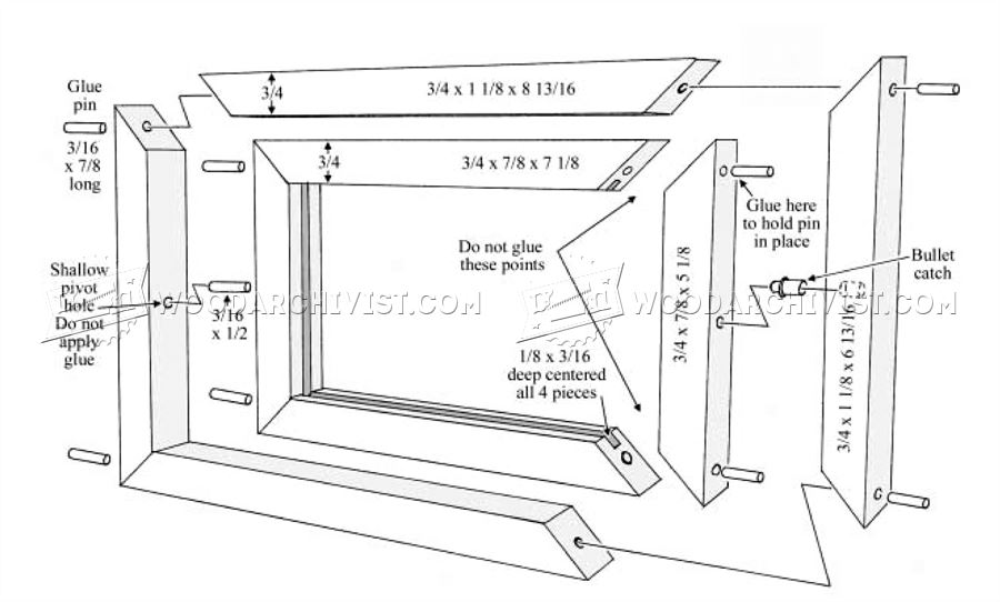 two sided picture frame plans two sided picture frame plans