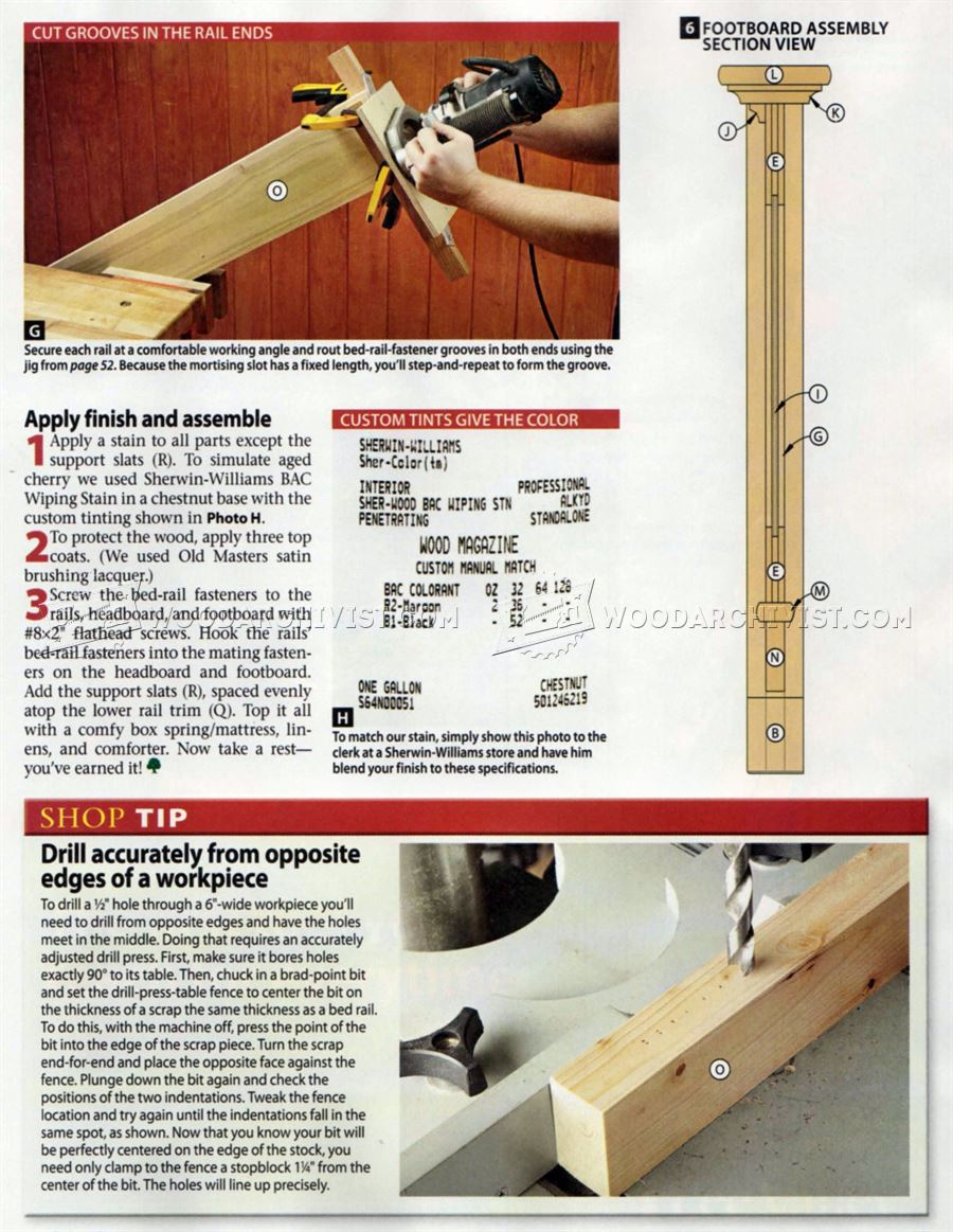 #174 Traditional Bed Plans