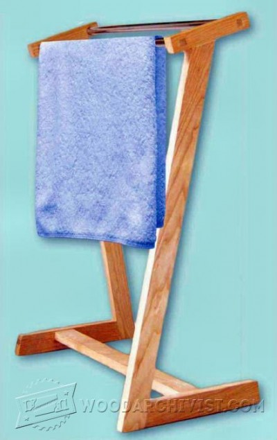19-Towel Rack - Plans and Projects