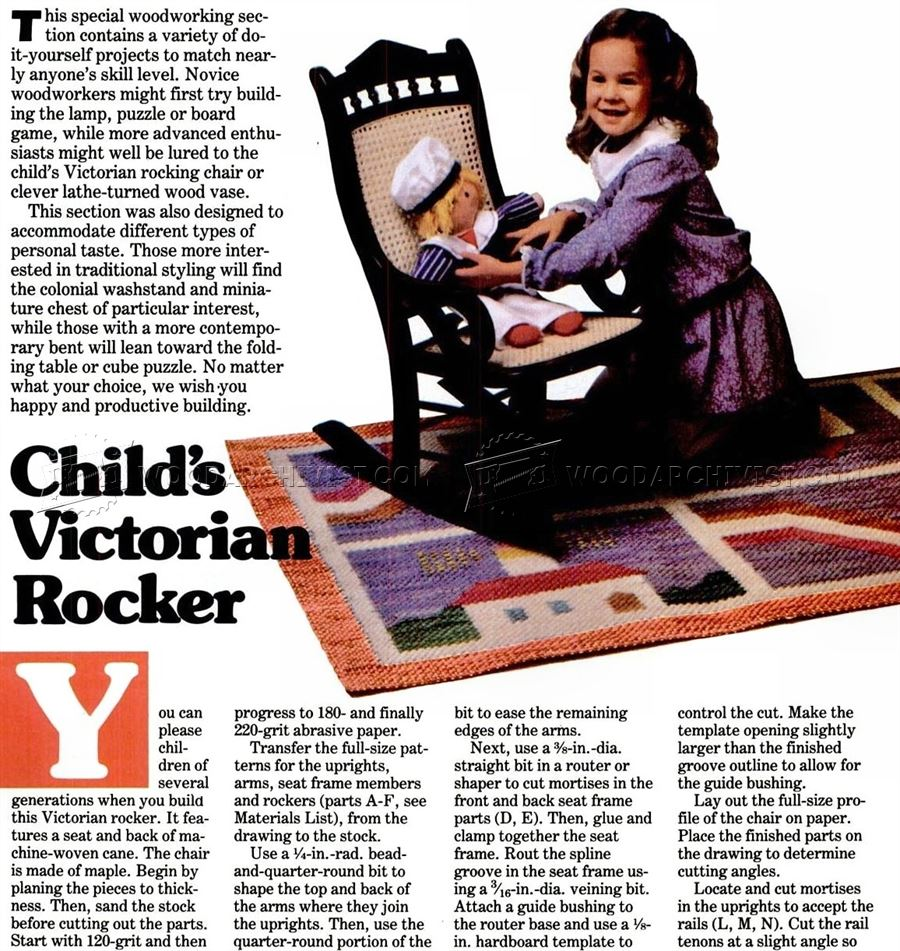 Children's Victorian Rocking Chair Plans