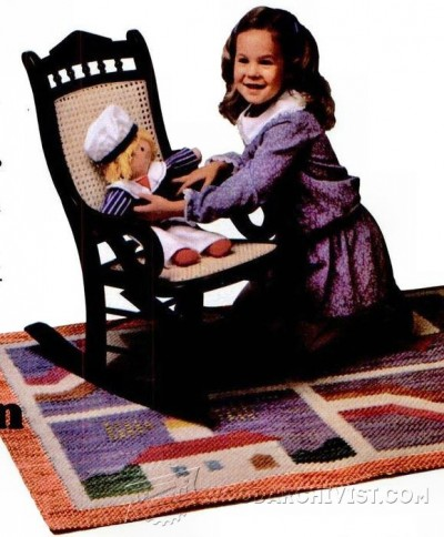 21-Victorian Rocking Chair - Children's Furniture Plans and Projects