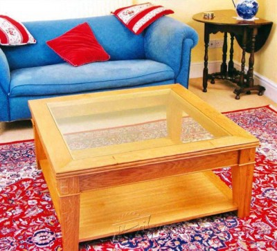 22-Glass-Topped Coffee Table - Furniture Plans and Projects