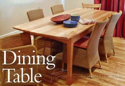 23-Dining Table - Furniture Plans and Projects
