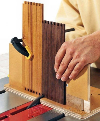 28-Adjustable Box Joint Jig - Joinery Tips, Jigs and Techniques