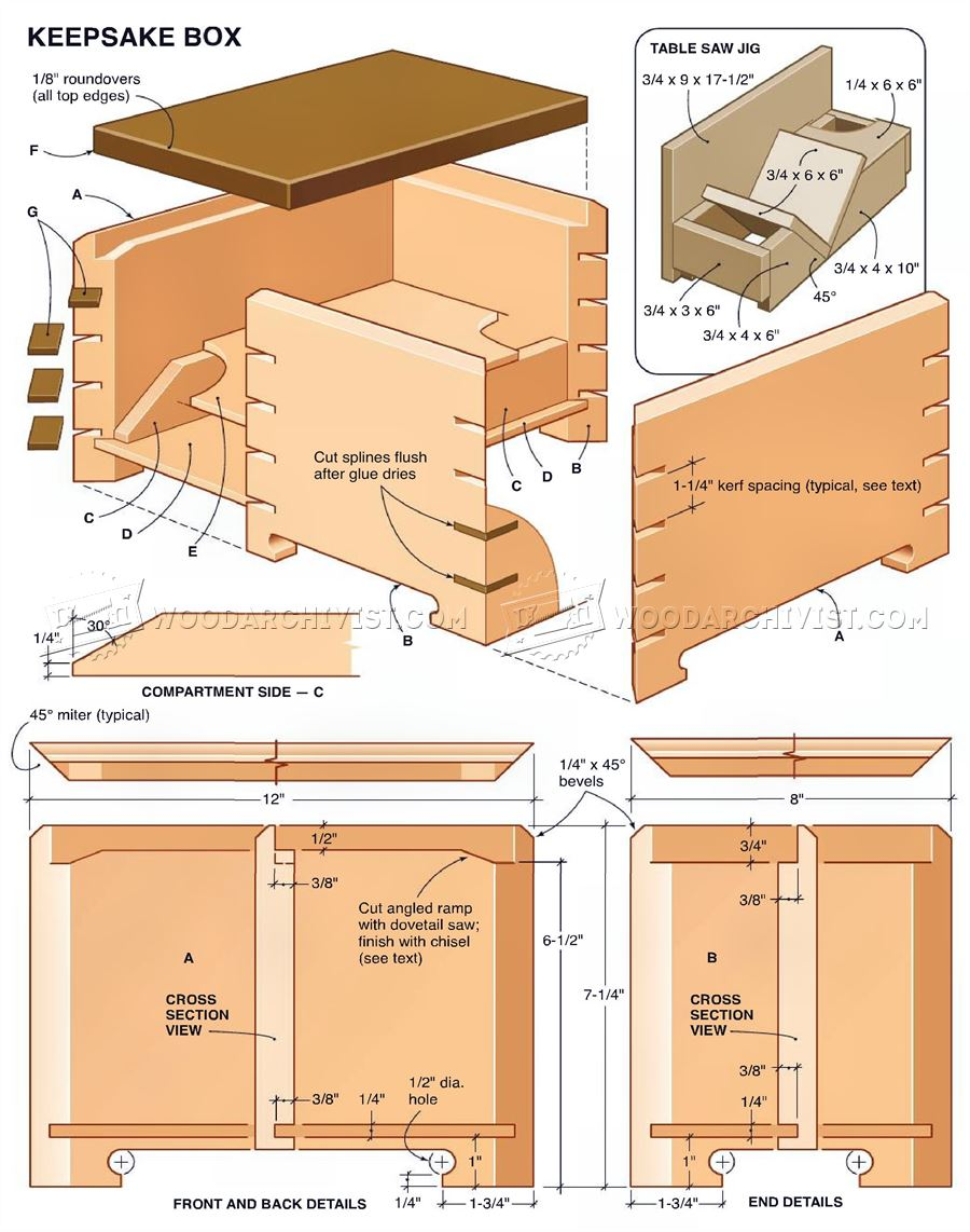 Keepsake Box Plans