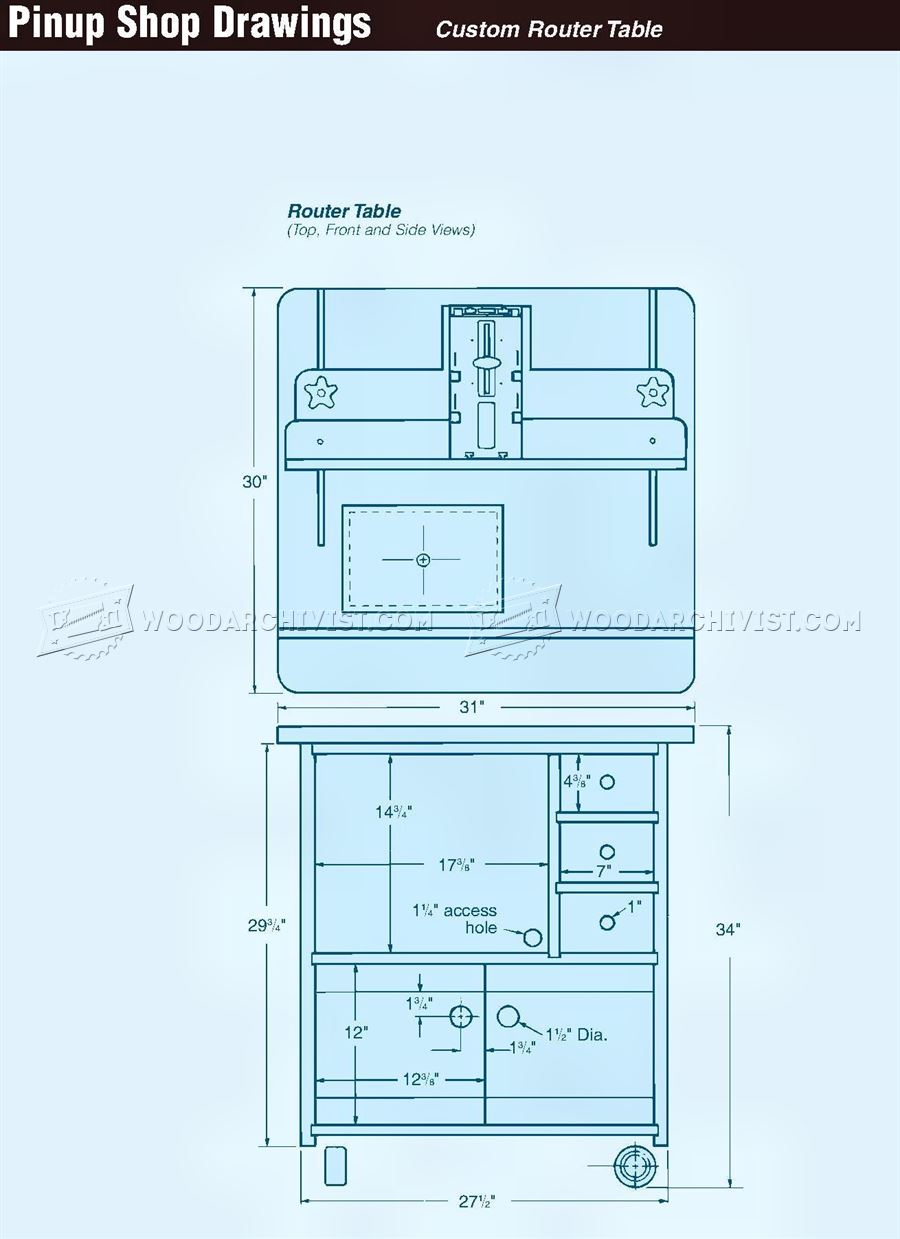 Custom Router Table Plans