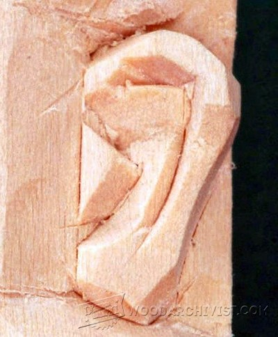 Carving Ear Wood Carving Techniques Woodarchivist