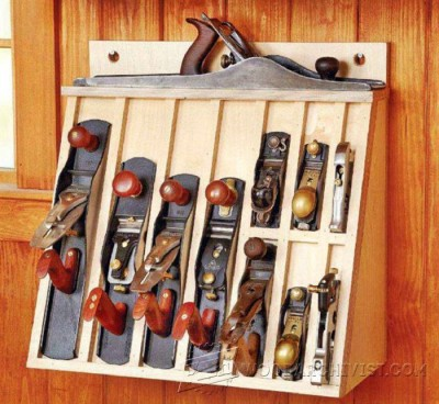 34-Hand Plane Rack - Workshop Solutions Projects, Tips and Tricks