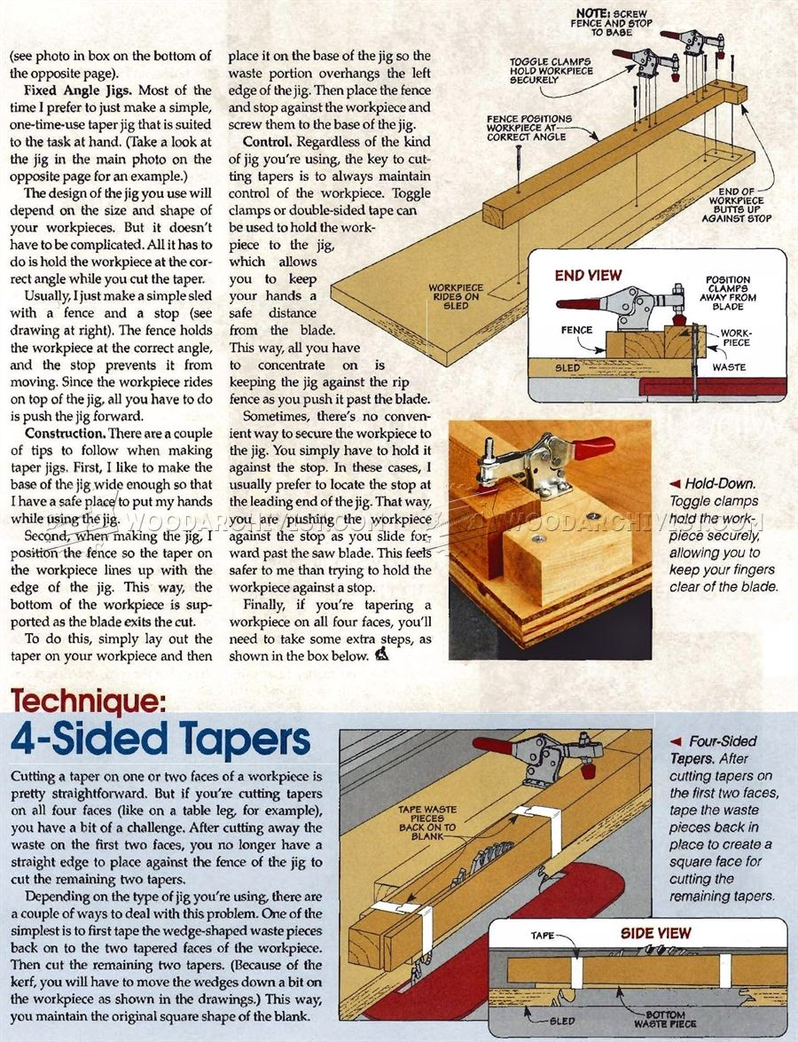 Tapering Jig Plans