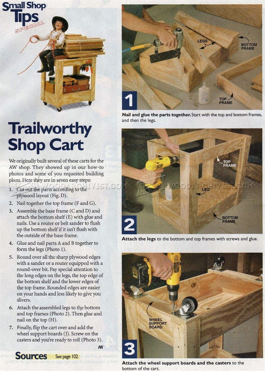 Trailworthy Workshop Cart Plans