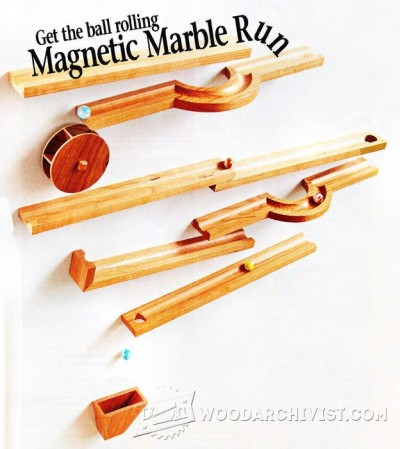 44-Magnetic Marble Run - Children's Plans and Projects